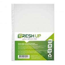 Папка-файл  А4+ /100шт/ 30мкм Fresh Up FR-2030 /глянець/