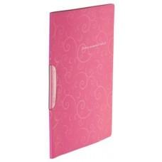 Папка-швидкозшивач А4 Barocco ВМ3303-10 рожева пласт. з поворотним притиском