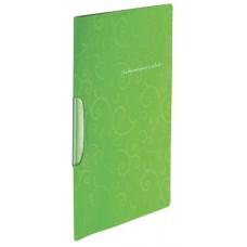 Папка-швидкозшивач А4 Barocco ВМ3303-15 салатова пласт. з поворотним притиском