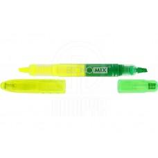 Маркер текстовий 2-стор. Economix Е11004-32 /жовтий-зелений/ скош. 1-4мм