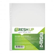 Папка-файл  А4+ /100шт/ 40мкм Fresh Up FR-2040 /глянець/