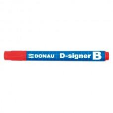 Маркер д/сух. дошок Donau D-SIGNER B /червоний/ конус. 2-4мм