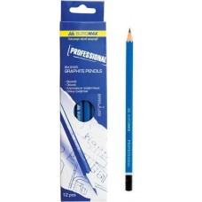 Набір олівців графіт. д/креслення Buromax Professional  ВМ8565 12шт. коробка