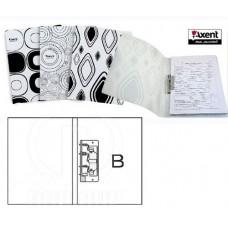 Папка А4 з прижимом Axent 1301-50 Black & White