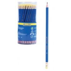Олівець графіт. Buromax JOBMAX ВМ8514 HB з гумкою  пласт.корпус