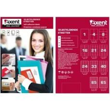 Етикетки А4 (100л) 105х37 (16) Axent 2455