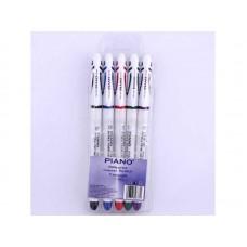 Набір ручок гелевих Piano PG-811 /чорна, синя, червона, зелена, фіолетова/