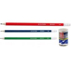 Олівець графіт. Buromax ВМ8501 HB з гумкою