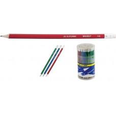 Олівець графіт. Buromax Metallic ВМ8507 HB з гумкою