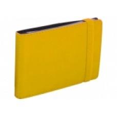 Візитниця кишенькова на гумці, 20 візиток, Vivella, жовта