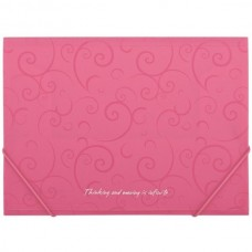 Папка А4 на гумках BM3914-10 /рожева/ Barocco