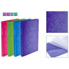 Папка А4 на 20 файлів Barocco ВМ3607-14 /блакитна/